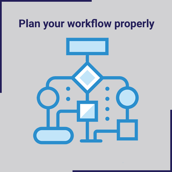 Plan your workflow properly